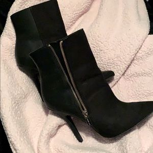 Leather and Suede booties